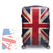 20Inch Vintage London Luggage/ABS Retro Travel Suitcase On Wheels/British Flag Designer Hardside Spinner Trolley Bags
