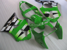 Motorcycle Fairing kit for KAWASAKI Ninja ZX6R 00 01 02 ZX6R 636 2000 2001 2002 Green white black Fairings set +7 gifts SL49