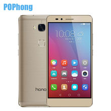Original Huawei Honor 5X Play 2GB RAM 16GB ROM 4G LTE Cell Phone Snapdragon 615 MSM8939 64 bit Octa Core 5.5'' FHD Fingerprint