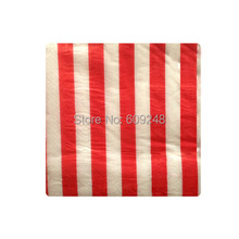 80pcs Cheap Christmas Birthday Wedding Tableware Red Striped Decorative Paper Napkins,3 Days Delivery on Orders over $100