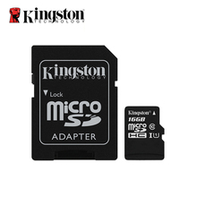 Kingston Memory card 16g micro sd Cards tf card 16GB class 10 mini sd card tarjeta micro sd 16 gb Original belt adapter(China)