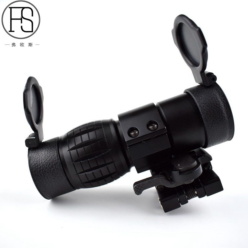 Tactical 3X Magnifier Optics Scopes Riflescope Fits  Sight Flip with Flip Side 20mm<br>
