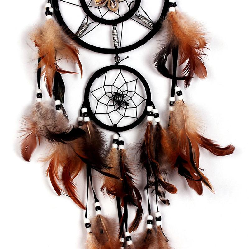 Attrape Rêves Géant Noir Amérindien décoration murale pour intérieur, culture amérindienne tribus indienne d'amérique du nord Ornement indien talisman suspendus mauvais rêves capteurs de rêves contre les cauchemars