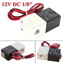 "12V DC Normally Closed Solenoid Valve 1/8"" 2 Way Direct-acting Pneumatic Solenoid Valve For Water Air Gas(China)"
