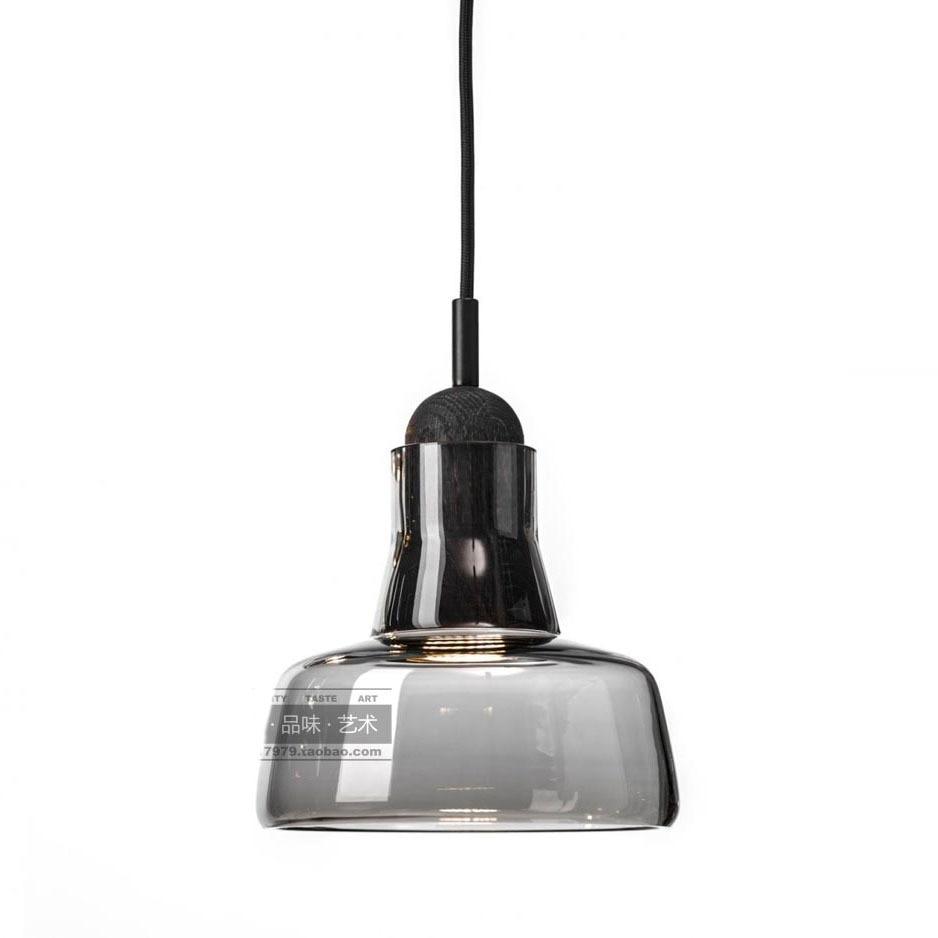 C-D6.7 x H5.9 Modern High Power LED Porch Pendant Lights Smoke Grey Glass Lampshade Creative Bar Counter Ceiling Pendant Lamp<br><br>Aliexpress