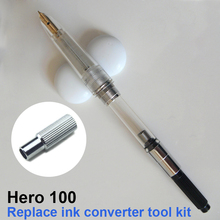 Hero 100 fountain pen replacement dismantle ink converter ink special tool set kit(China)