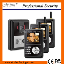 Three families video door phone 300m wireless video door phone with night version camera good quality and cheap price