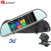 Junsun E515 Car DVRs 6.5 Android 5.0 mirror DVR 3G Car DVR Bluetooth rearview mirror with DVR and camera video recorder Dash Cam(China)