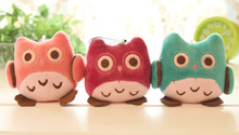 KAWAII NEW OWL 7CM Phone Strap Charm DOLL Plush Stuffed Keychain TOY & BAG Pendant TOY BAG Wedding Bouquet TOY Gift DOLL