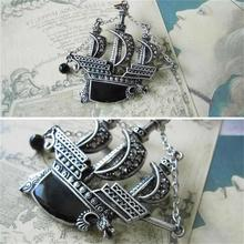Punk Vintage Brooch Pin Fashion Silver Plated Alloy Sailing Boat Ship Pirate Vessel Dragon Brooch Pin Unisex Crystal Best Gifts