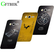 Cute Cartoon Case For Samsung Galaxy Core 2 Duos G3559 G355H G3556D Hard Plastic Case Fashion Football Cover Game of Thrones 7