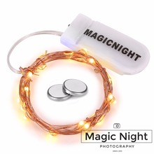 Magicnight 20 Warm White Micro LED String Lights on 7 Feet Extra Thin Copper Wire for DIY Wedding Centerpiece Included Battery
