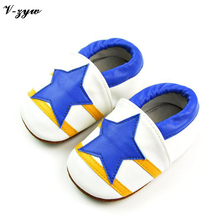 New Fashion Baby First Walkers Breathable Spring Autumn Shoes Soft Leather Baby Walking Boots Boys Infant Shoes Slippers GZ033(China)
