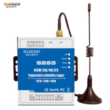 2G/3G/4G Temperature Humidity GSM Remote Controller SMS/Call Alert Security Alarm System IOS Android APP S265(China)