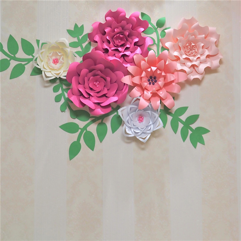 2019 2018 Giant Paper Flowers Backdrop Leaves For Wedding Event