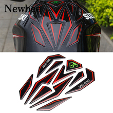 Newbee Reflective 3D Motorcycle Sticker Moto Gas Fuel Tank Protector Pad Cover Decoration Decal for Honda Yamaha Kawasaki Suzuki(China)
