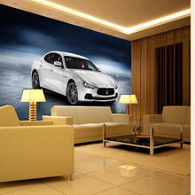 beibehang wallpaper for walls 3 d Auto Club Car Posters magazine Wallpaper Murals Maserati sports cars wallpaper papel de parede
