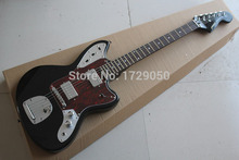 Free Shipping High quality New Arrival jazz Guitar JAGUAR red Pickguard black Electric Guitar 2015 1(China)