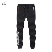 Autumn Casual Pants Men Skinny Mens Sweat Pants Male Cotton Sportswear Menswear Thick Warm Long Casual Trousers Straight Pants(China)