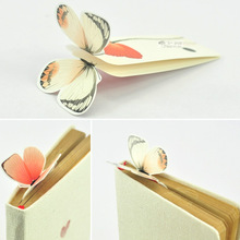 2 PCS Bookmark Butterfly Style Teacher's Gift Book Marker Stationery Gift Realistic Cute Kawaii Cartoon 3d Bookmark