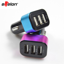 Effelon Mini Universal 3 USB Port Car Charger Adaptor for iPhone 4 4S 5 5S for Samsung Galaxy Mobile Phone charger(China)