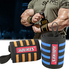 Aolikes Men Wrist Band Adjustable Wristband Brace Wrap Bandage Gym Strap Wrist Support Bands For Weight Lifting Exercise