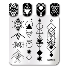 Buy NICOLE DIARY Nail Art Stamp Image Plate Stainless Steel Geometric Triangle Pattern DIY Nail Stamping Template for $1.27 in AliExpress store