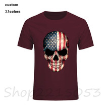 American USA Flag Skull Men t-shirt stranger things funny fitness male tshirt rick morty compression captain america t shirt
