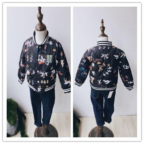2017 Hot Winter Boys Girls Cotton Long Sleeve Printed Zipper Jacket &amp; CoatsОдежда и ак�е��уары<br><br><br>Aliexpress