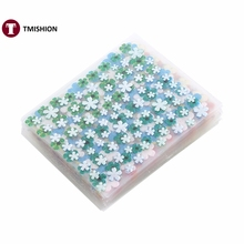 1 Bags Of 50Pcs Sheets Multicolor Stylish 3D Nail Art Sticker Flower Design Adhesive Decal Decoration Fashion Nail Tools 2 Style