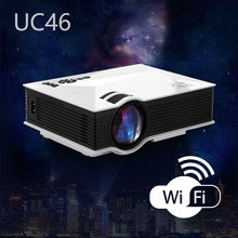 New HD LED LCD mini projector beamer UNIC UC46 with wireless WIFI/HDMI/VGA/SD/USB/AV for smartphone phones PC laptop TV DVD(China)