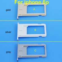SIM Card Holder Tray Slot for iphone 6P Replacement Part SIM Card Card Holder Adapter Socket for Apple Accessories Tools(China)