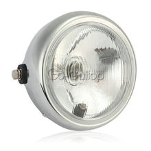"7"" Motorcycle Headlight Bulb Driving Fog Light Sport Street Bike Cafe Racer 12V(China)"