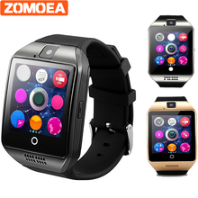 Q18 WristWatch Bluetooth Smart Watch Sport Pedometer With SIM Camera Smartwatch For Android Smartphone Russia hour PK GT08 DZ09(China)