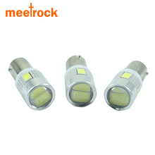 Meetrock white car bulbs BA9S Led reading light t4W automotive Interior Lamp sourse 6smd 5630 DC 12V(China)