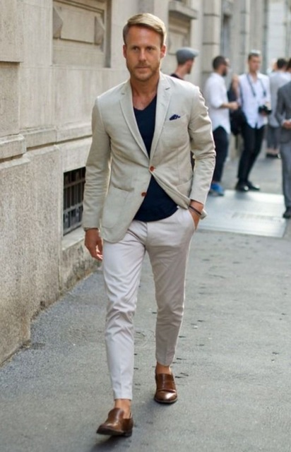 2018 Latest Coat Pant Designs ivory men suit slim fit classic summer jacket+pants tailor made wedding street beach casual tuxedo