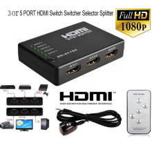 HDMI сплиттер 3/5 порт HDMI Коммутатор HDMI порт 1080 P 3 входа 1 выход 4 К адаптер для Xbox 360 PS3 PS4 Android HDTV(China)