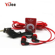 YiJee Portable MP3 Clip Mini MP3 Player Music MP3 + Stereo Earphone + USB Cable Support Micro SD Card Hot sales