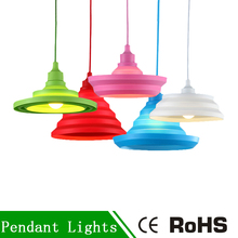 Modern Pendant Lights Fashion Simple Colorful Silicone Lamp Led E27 Silicone Vintage Edison Lustre Rope Pendant Lamp For Kitchen(China)