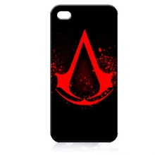 Assassin Creed Red Logo Cover Case for iPhone 4 4S 5S 5C SE 6 6S 7 Plus Samsung Galaxy S3 S4 S5 Mini S6 S7 S8 Edge Plus A3 A5 A7