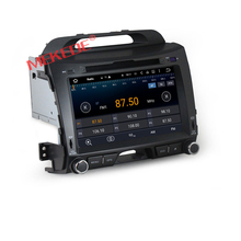 8inch Capacitive screen Quad-Core Android7.1 car radio cassette for KIA sportage R 2010 2011 2012 with 1024*600 Resolution