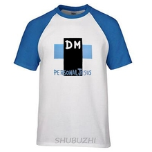 Personal Jesus T shirt Men Cross DM T-shirt Male Depeche Mode Tees Summer raglan Sleeve Music Band Top Clothing ringer Tee