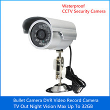 Hot Sale CCTV Security Camera DVR Record 20H Waterproof 1/4 CMOS 24IR Micro USB TF Card