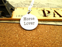 "Fashion stainless steel necklace ""horse lover"" Charms Pendant necklace Jewelry Gift more style for choosing"