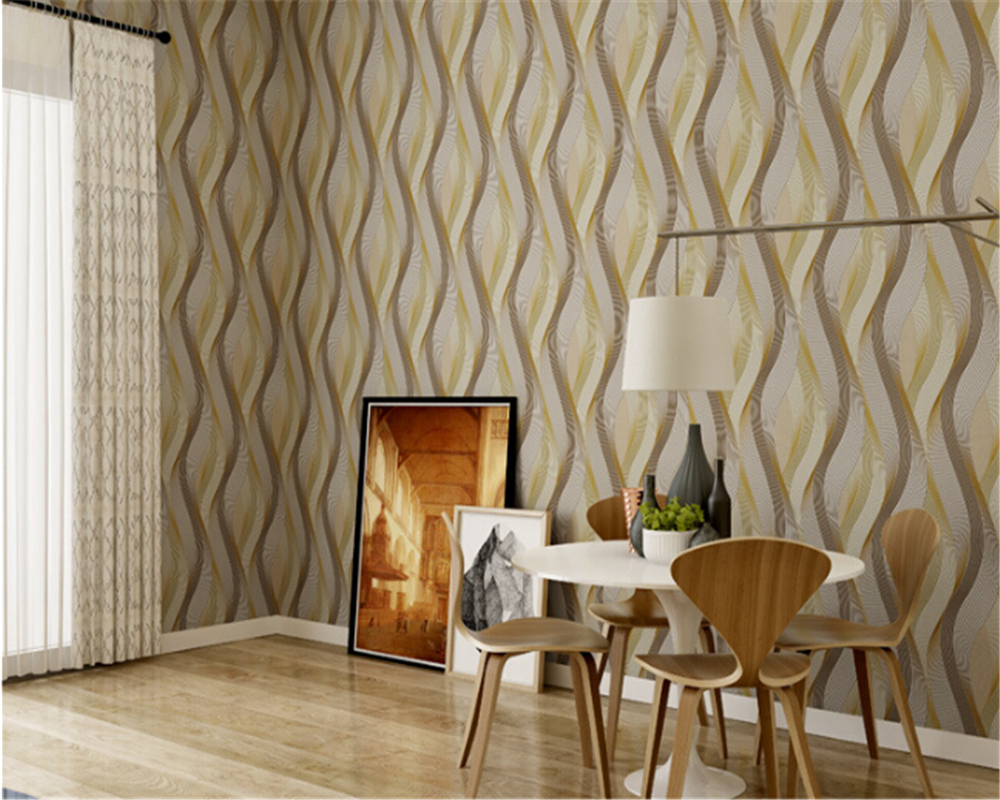 beibehang papel de parede Modern minimalist PVC non woven wallpaper bedroom living room TV backdrop papier peint wallpaper 3d<br>