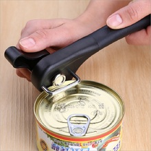 Stainless Steel Can Opener Professional Manual Side Cut Jar Tin Opener Smooth Edge Bottle Opener Easy Turn Knob Kitchen Gadget