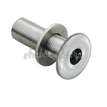 "hru Hull Fitting for 1/2"" Hose Marine Boat Hardware Stainless Steel"
