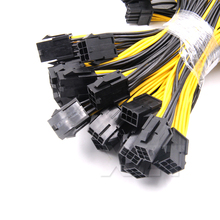 6-pin PCI Express to 2 x PCIe 8 (6+2) pin Motherboard Graphics Video Card PCI-e GPU VGA Splitter Hub Power Cable(China)