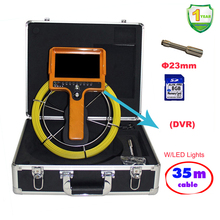 35 Meter Cable DVR Hand Held Pipe Wall Sewer Inspection Camera System W/7'LCD Waterproof Pipe Detection Video Endoscope Camera(China)