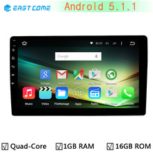 10.1'' 1 din 1din Android 5.1.1 Quad Core Universal Car Radio stereo GPS Navigation autoradio system for Toyota VW Nissan Honda